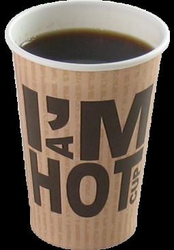 Kunststof/karton koffiebeker
