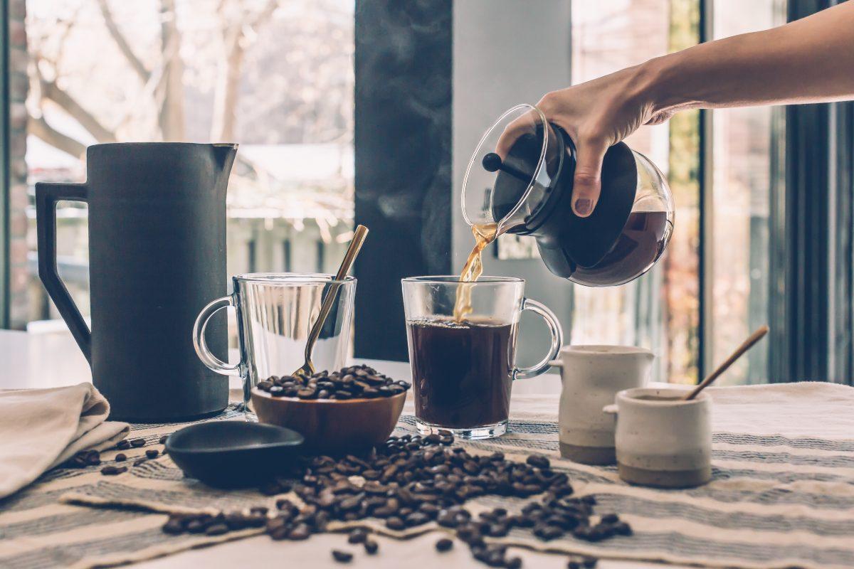 Koffiebonen op werk
