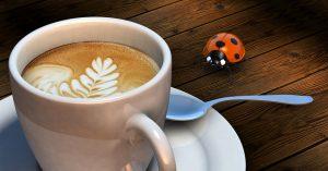 koffiemok met lieveheersbeestje